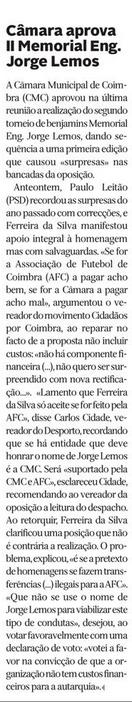 Diário de Coimbra, 20 de Fevereiro de 2015