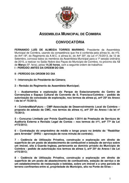 Reunião Ordinária da Assembleia Municipal 12-03-2015-page-001