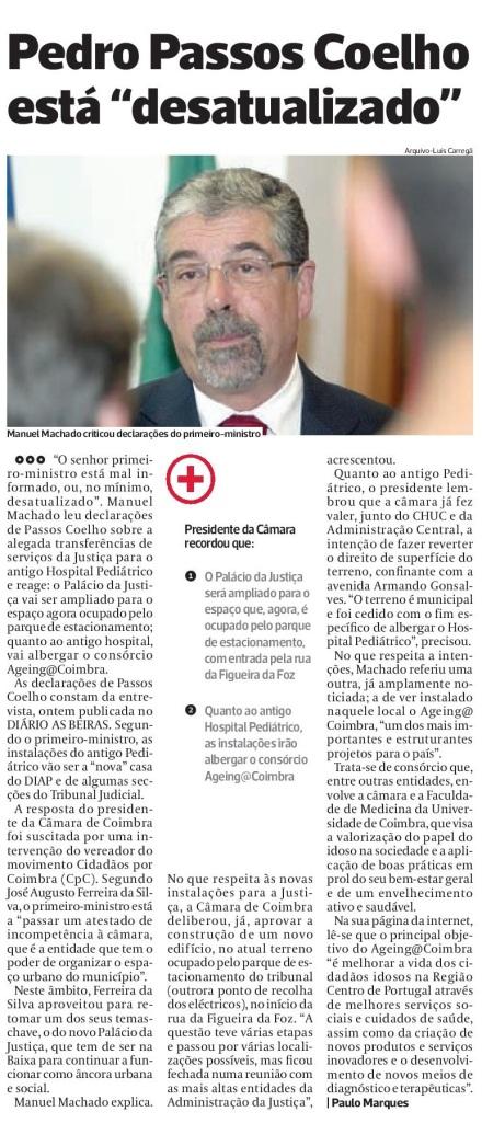 Diário As Beiras, 21 de Julho de 2015