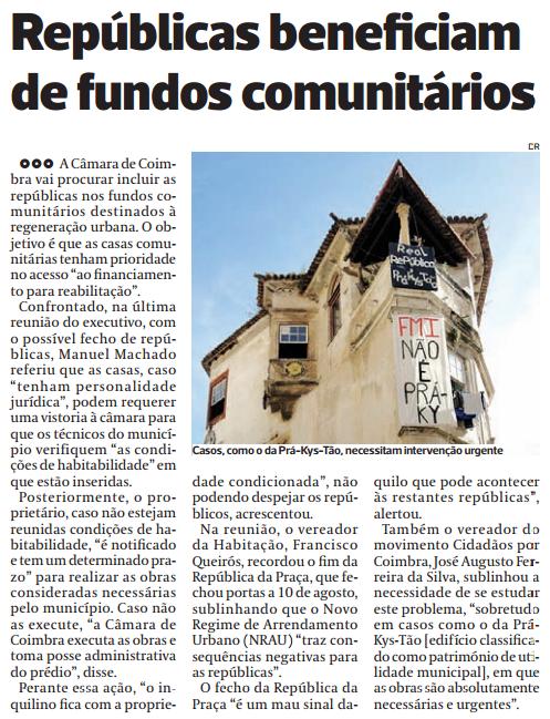 Diário As Beiras, 19 de Agosto de 2015