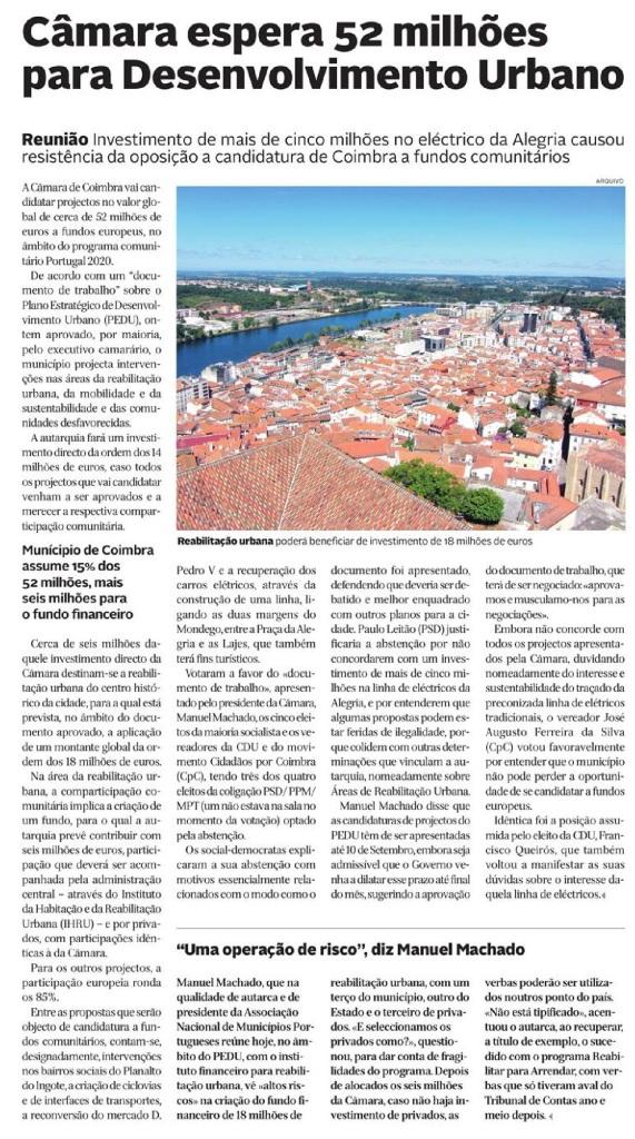 Diário de Coimbra, 8 de Setembro de 2015