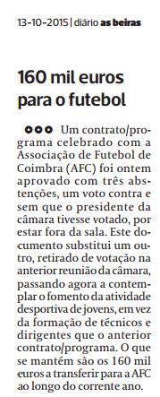 Diário As Beiras, 13 de Outubro de 2015
