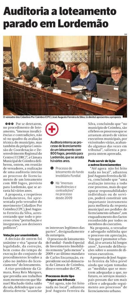 Diário As Beiras, 10 de Novembro de 2015