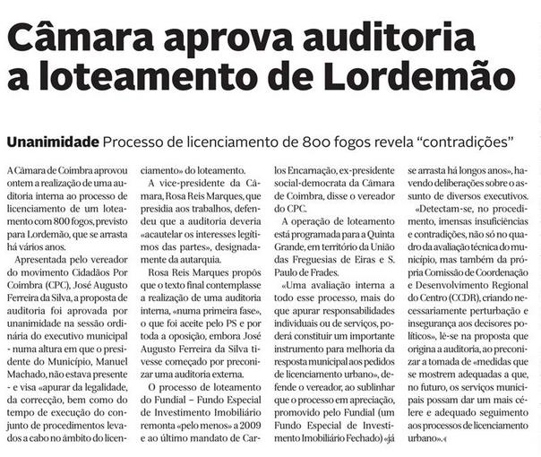 Diário de Coimbra, 10 de Novembro de 2015